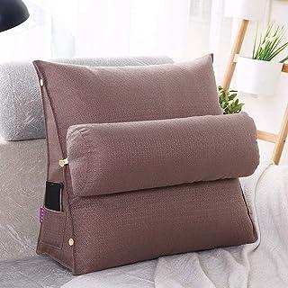 Backrest Support Coussin Coussin de lecture Coussin de lecture, oreillers de la tête de lit, avec poches et appui-tête amo...
