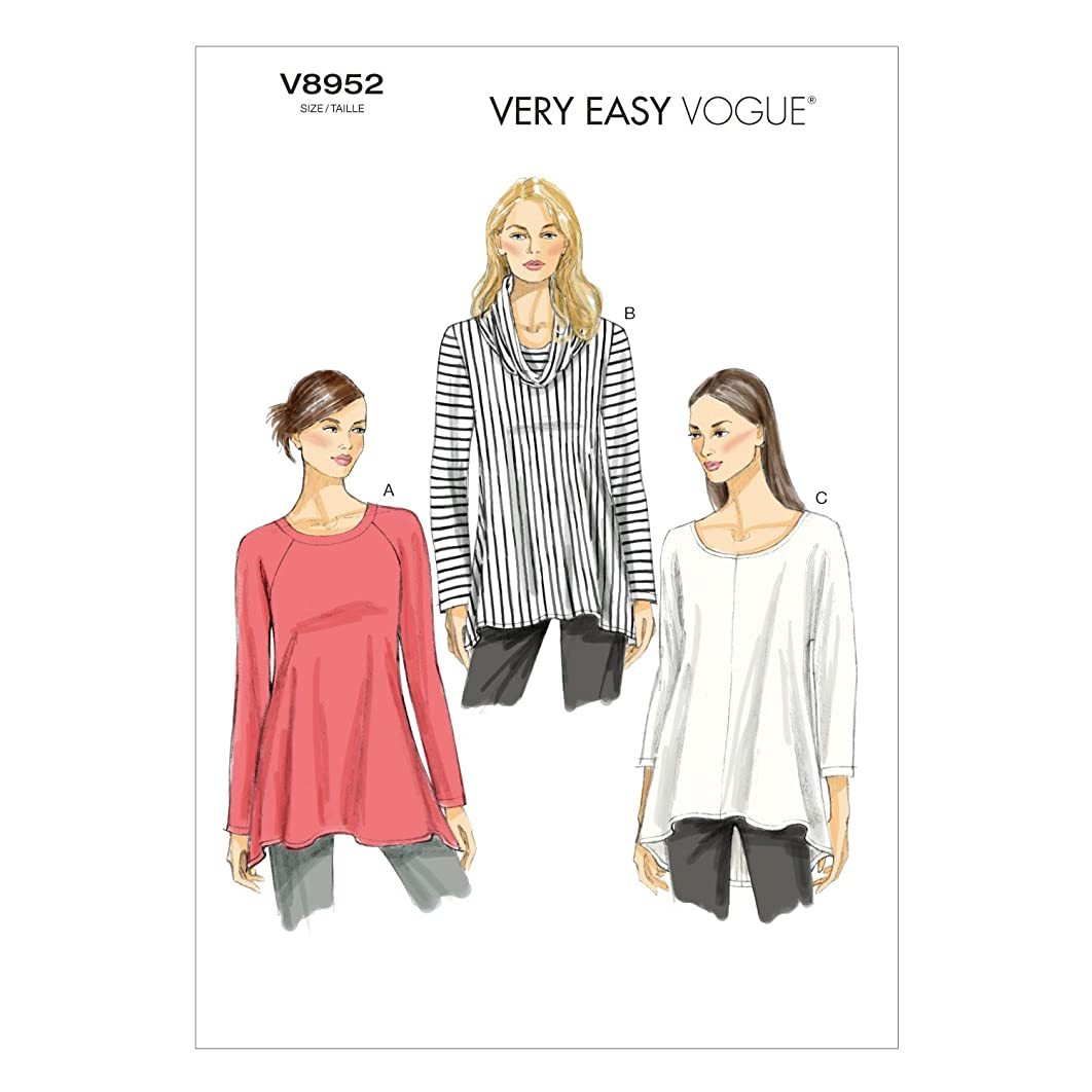 Vogue Patterns V8952 Misses' Tunic Sewing Template, Size ZZ
