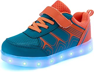 DoGeek Enfant LED Chaussure 7 Couleurs Baskets Lumineuse Filles Gar?on Chargeur USB Chaussure Lumineuse