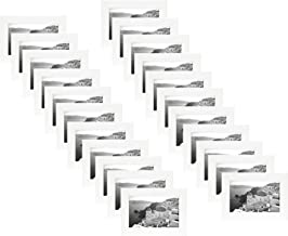 Golden State Art 20-Pack, 4x6 White Photo Frame - Easel Stand, Sawtooth Hanger, Swivel Tabs - Tabletop, Wall Display - Picture Collage - Real Glass (20, White)