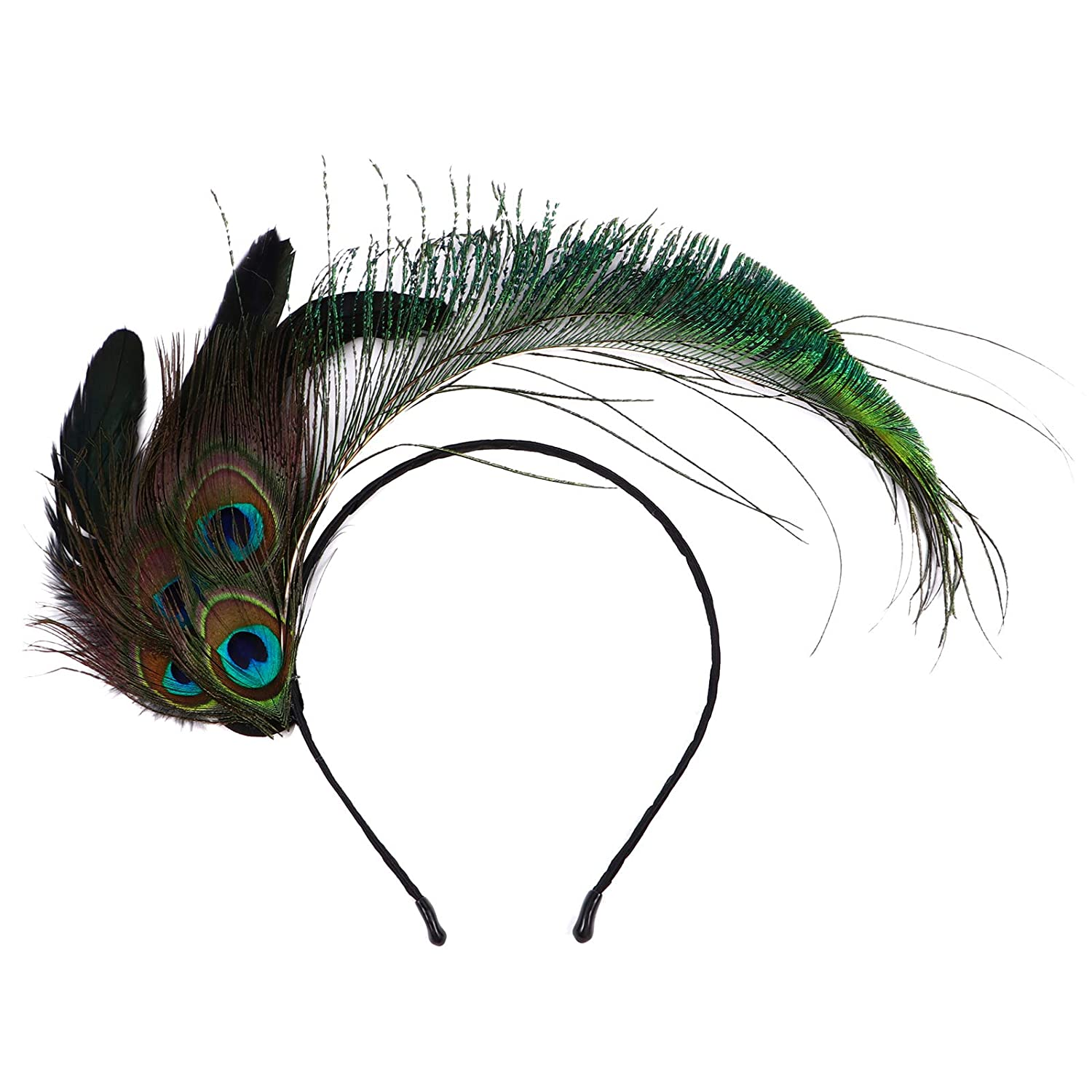 FRCOLOR Indian Headdress Feather Headband Feathers Fascinator Cosplay Head Prop for Women Girls