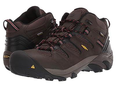 Keen Utility Lansing Mid Waterproof Steel Toe (Cascade Brown/Brindle) Men