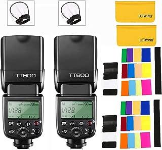 【技適マーク付き&PDF日本語説明書】GODOX TT600 カメラフラッシュ ストロボ 内蔵2.4G ワイヤレストリガ・システム 1/8000S高速シンクロ Canon, Nikon, Pentax, Olympus その他のデジタルカメラ用 (2個入り)
