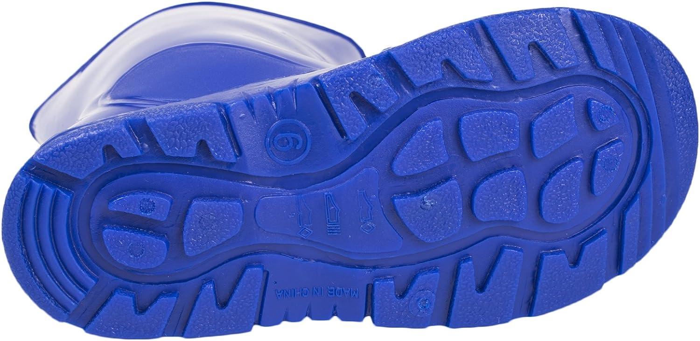 Kids Boys Girls Mid Calf Rain Snow Boots Wellies Wellingtons Wellys Shoes Size