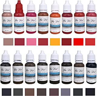 22 Color 15ml Eyebrow&Eyeliner& Lip Permanent Makeup Tattoo Ink Brand Micro Pigment Lasting Long Body Tattoo Art Beauty Tools