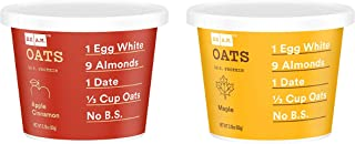 RXBAR RX Oats, 2 Flavors Variety Pack, 2.18oz Cups, 8 Total Gluten Free Oatmeal Cups, (4 Apple Cinnamon and 4 Maple) (2 Flavors Variety)