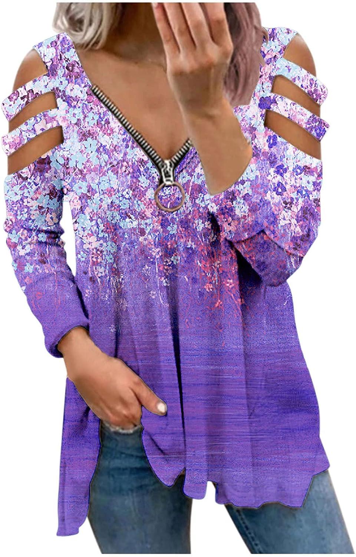 Sudaderas Mujer Marca,Camisas Vestido Mujer,Top De Entrenamiento De Manga Larga Para Mujer Sudadera Con Cremallera Con Cuello En V Sexy Para Mujer Blusa Informal Tops Túnicas Camiseta Camiseta Gráfica