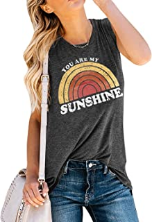 Womens Country Shirts Sunshine and Whiskey Cute Graphic Tees Summer Short Sleeve Cotton T-Shirts
