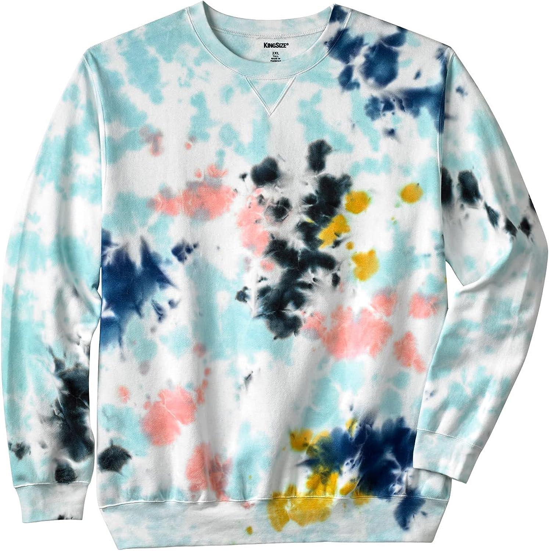 KingSize Men's Big San Jose Mall Tall Weekly update Crewneck Sweatshirt Fleece