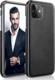 LOHASIC iPhone 11 Case 6.1 inch, Luxury Premium PU Leather Thin Slim Flexible Bumper Soft Non-Slip Grip Anti-Scratch Shockproof Full Body Protective Cover Cases for Apple iPhone 11 (2019) - Black