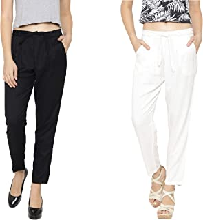 Aakrushi Women's Regular Fit Rayon Pant - (Waist 28 Inches to 36 Inches)