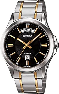 Casio Men's Black Dial Stainless Steel Analog Watch - MTP-1381G-1AVDF