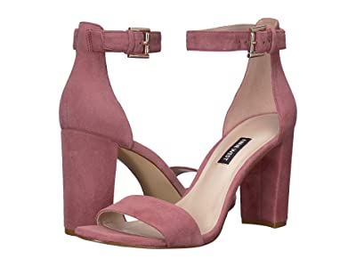 Nine West Nora Block Heeled Sandal (Peony) Women