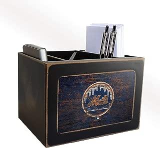 Fan Creations MLB New York Mets Distressed Team Logo Desktop Organizer with Color