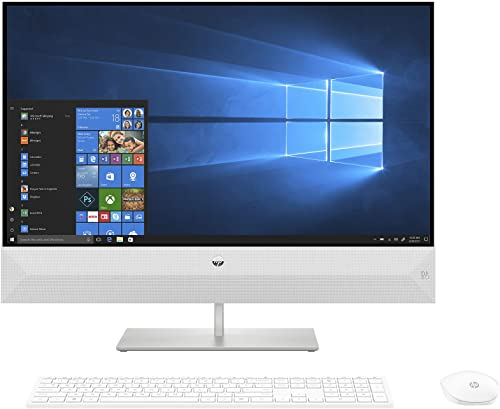 HP Pavilion AMD Ryzen 7 AIO Desktop (16 GB/512 GB SSD/Windows 10/Snowflake White/7.65kg) 27-xa1027in