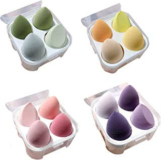4 pcs Beauty Blender Complexion Sponge Multi-Colored Egg Shaped Foundation Blending Sponge is Makeup Ideal for Highlighter...