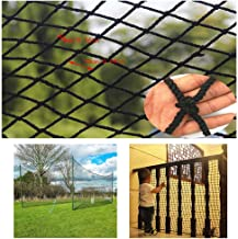 Children's Balcony Safety Net Stair Anti-fall Net Black Protective Net Fence Net Football Net Decoration Net Hanging Clothes Net Restaurant Bar (Size : 1x2m)