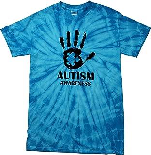 Autism Awareness Hand Spider Tie Dye T-Shirt
