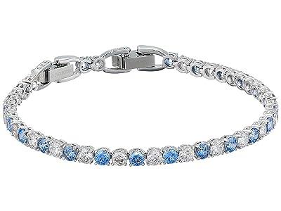 Swarovski Tennis Deluxe Bracelet (CZ Fancy Light Blue) Bracelet