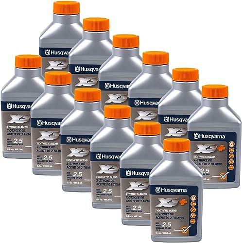 new arrival Husqvarna 2021 12PK Genuine OEM XP 2-Cycle Oil 2.5 Gallon Mix lowest 6.4oz 593152303 sale