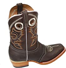Women Genuine Cowhide Leather Cowboy Rodeo Western Square Toe Boots
