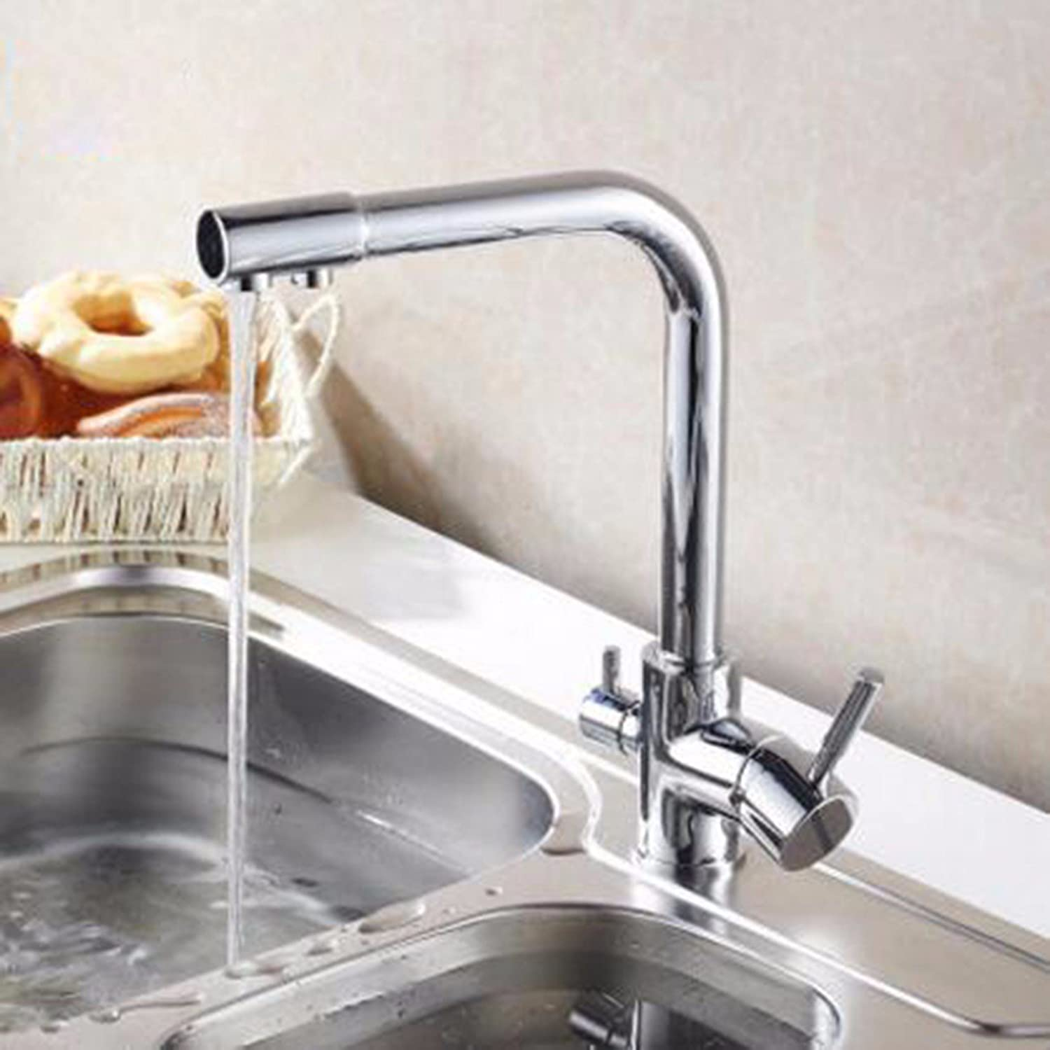 MulFaucet Hot and Cold Kitchen Water Purifier Double tap Sink Faucet redating Water