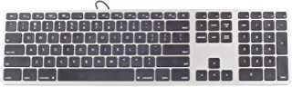 Matias Black/Silver Wired Plastic Painting Case Keyboard for Mac, FK316