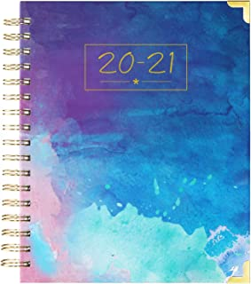 "2020-2021 Planner - Weekly & Monthly Planner 2020-2021, July 2020 - June 2021, Thick Paper with Colorful Tabs - 9.3"" x 8.25"", Twin-Wire Binding with 15 Notes Pages + Two-Sided Inner Pocket + Ruler"