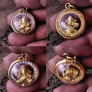 Thai Amulet Necklace Thai Jewelry 22K Gold Diamond Thai Amulet Bring Luck Vishnu Lord-Ganeshaess