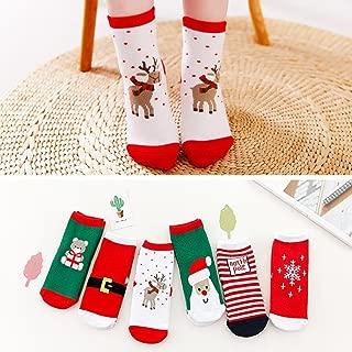 WensLTD Gift 6 Pair Cute Baby Kids Christmas Casual Socks Cute Unisex Socks