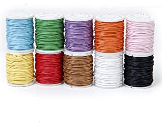 color natural 20 metros por unidad color blanco Cord/ón de algod/ón trenzado de 3 mm Sadingo