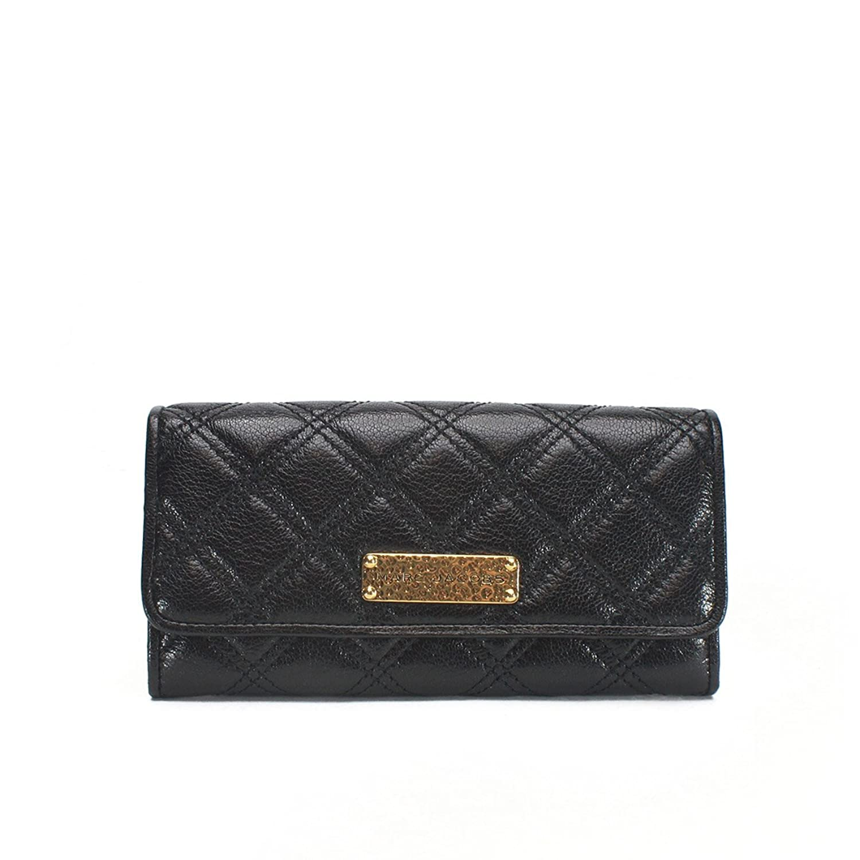 Marc Jacobs Double Groove財布、ブラック真鍮