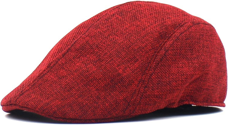 Mesh Beret Hats for Women Summer Men and Women Retro Duck Tongue Cap Air-Permeable Outdoor Sunshade Hat