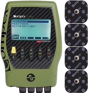 تحریک کننده عضلات Compex Edge 2.0 با کیت بسته نرم افزاری TENS: دستگاه برقی سازی عضلات الکتریکی (EMS) ، 12 الکترود اسنپ ، 4 برنامه ، سیمهای سرب ، باتری ، کیس / 2 قدرت ، 1 بازیابی ، 1 ده