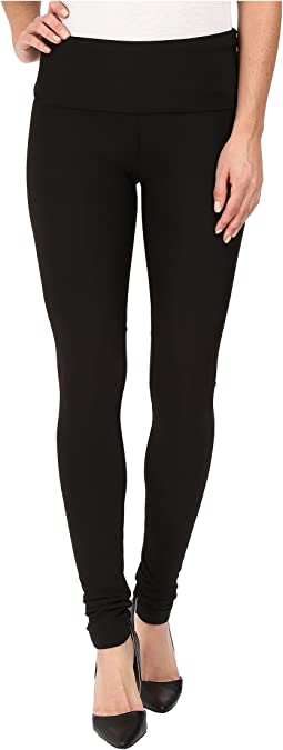 Fleece-Lined High Waisted Matte Spandex Leggings