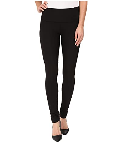 Plush Fleece-Lined High Waisted Matte Spandex Leggings (Black) Women
