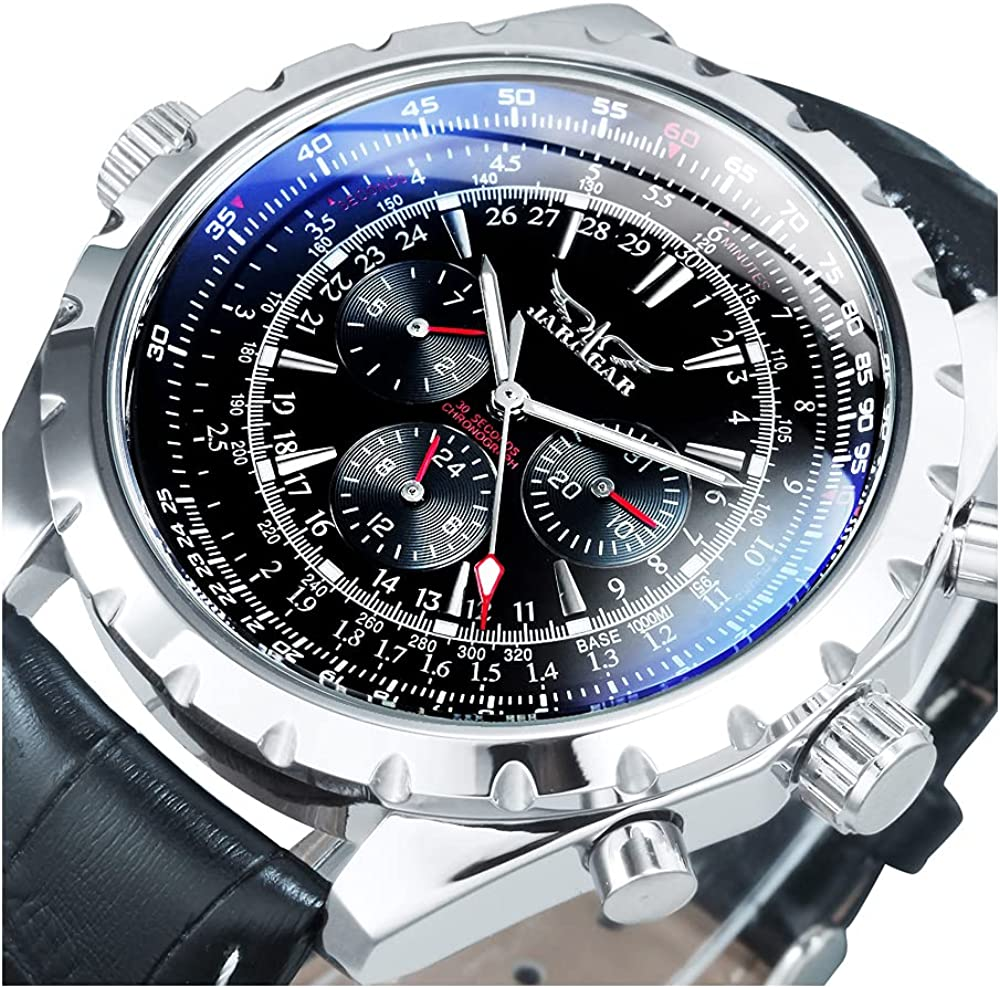 Free shipping anywhere in the nation Caluxe Military Pilot Men's Mechanical Watch Popular brand Wristwatc Automatic