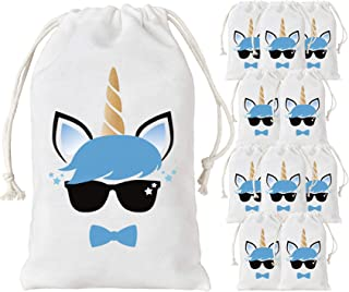 Kreatwow 12 Pack Unicorn Party Bags Supplies - Party Favor Bags for Birthday Party Supplies 5 x 8 Inches