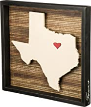 Primitives by Kathy 27787 Wanderlust Inset Box Sign, 16.5 x 15.5-Inches, Texas