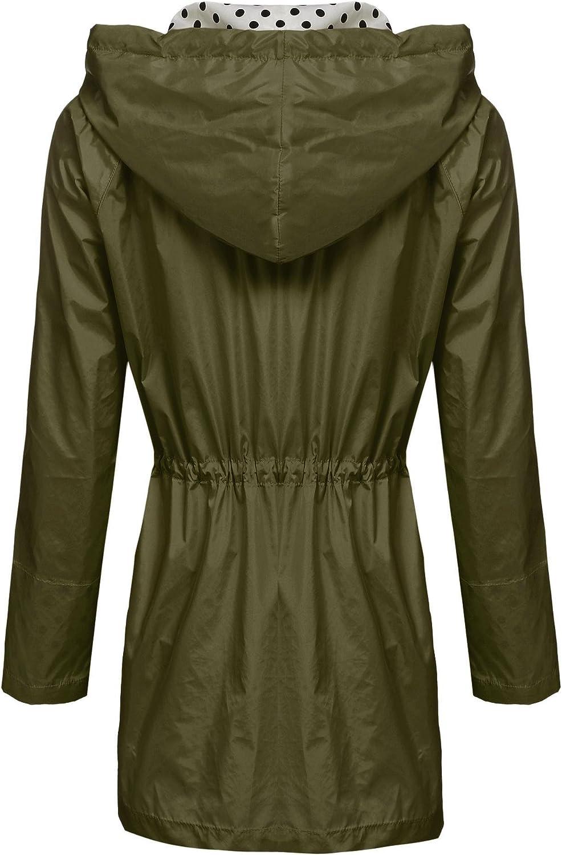 UNibelle Rain Jacket Women Waterproof Lightweight Hooded Active Outdoor Raincoat Packable Windbreaker