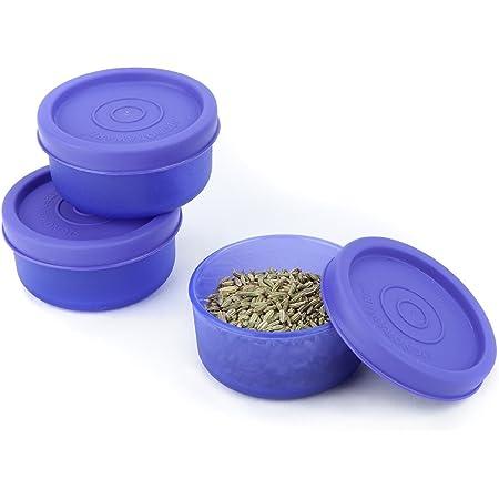 Signoraware Nano Plastic Container Set, 40ml, Set of 3, Violet