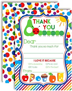 Happy Hungry Caterpillar Themed Thank You Notes for Kids, Ten 4