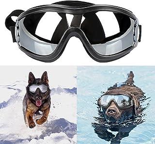 Freyamall Perro Gafas de Sol Mascota Perrito Gafas UV Protección para los Ojos, A Prueba de Agua y Viento Gafas de Sol con Correa Ajustable, Elegante y Divertido