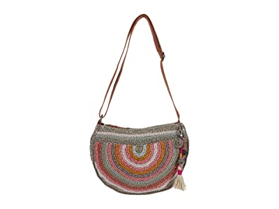 The Sak Ryder Crochet Crescent Crossbody (Horizon Stripe) Handbags
