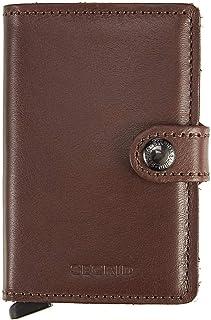 Secrid Men Mini Wallet Genuine Leather RFID Safe Card Case for max 12 cards 16mm slim Brown