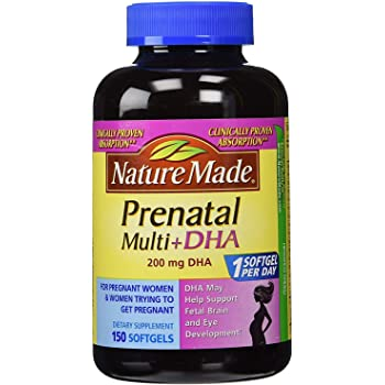 NM Prenatal + DHA 200 mg Softgels (1 Pack 150 Count)