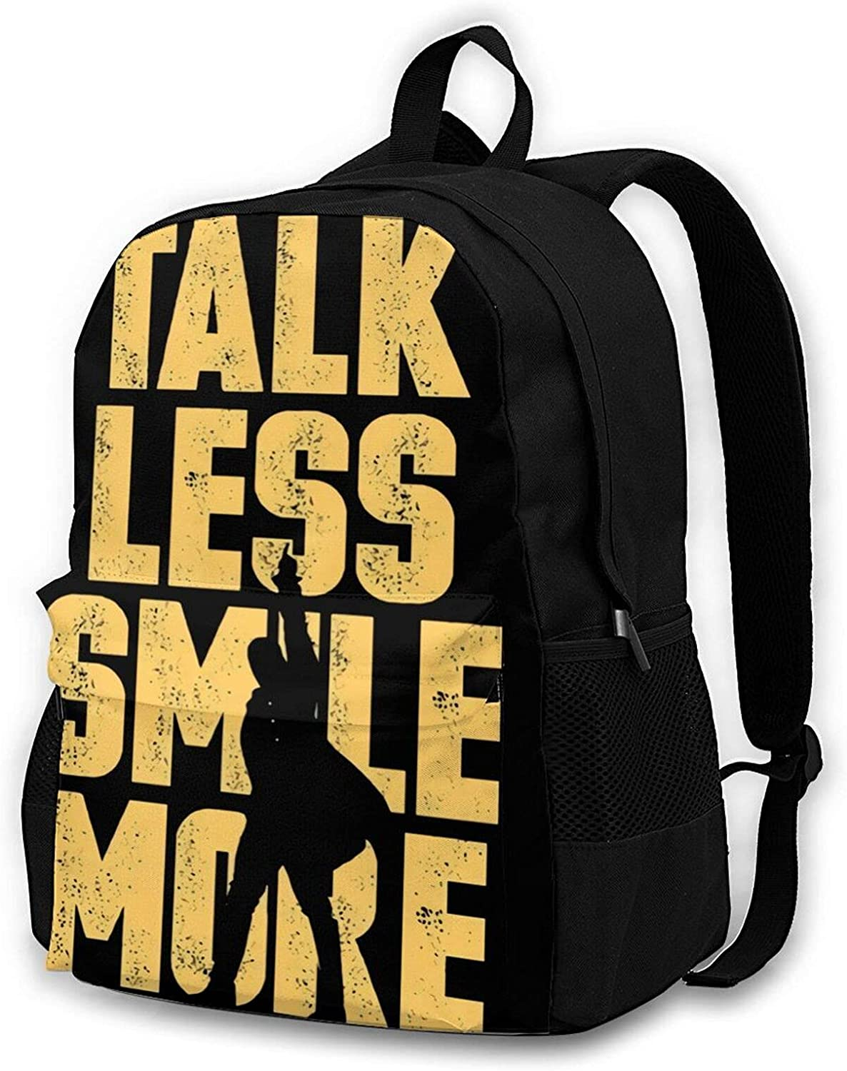 Talk Less Smile More Ranking TOP8 Fashion Max 67% OFF School Bag Hiking Durable B Camping