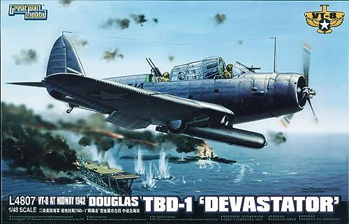 Douglas TBD-1 Devastator VT-8 Midway 1942 (Plastic model)