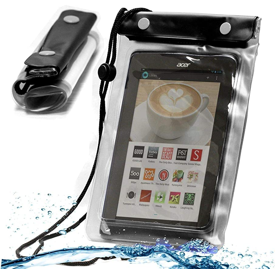 Navitech Black Waterproof Case/Cover Compatible with The Kocaso MX 780 7-Inch | Lectrus 7 Inch | Kobo Arc 7