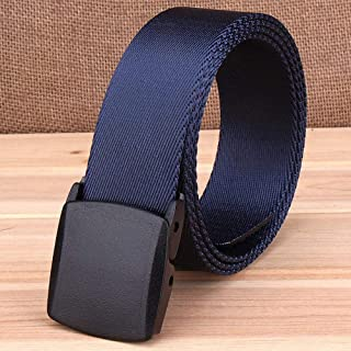 WL Mens Military Tactical Belt Nylon Canvas Webbing Casual Army Outdoor Tactical Belt Hypoallergenic and Quick-Drying